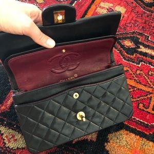 ed1d679db63c CHANEL Bags   Rare Vintage 9 Inch Double Flap Bag Black   Poshmark